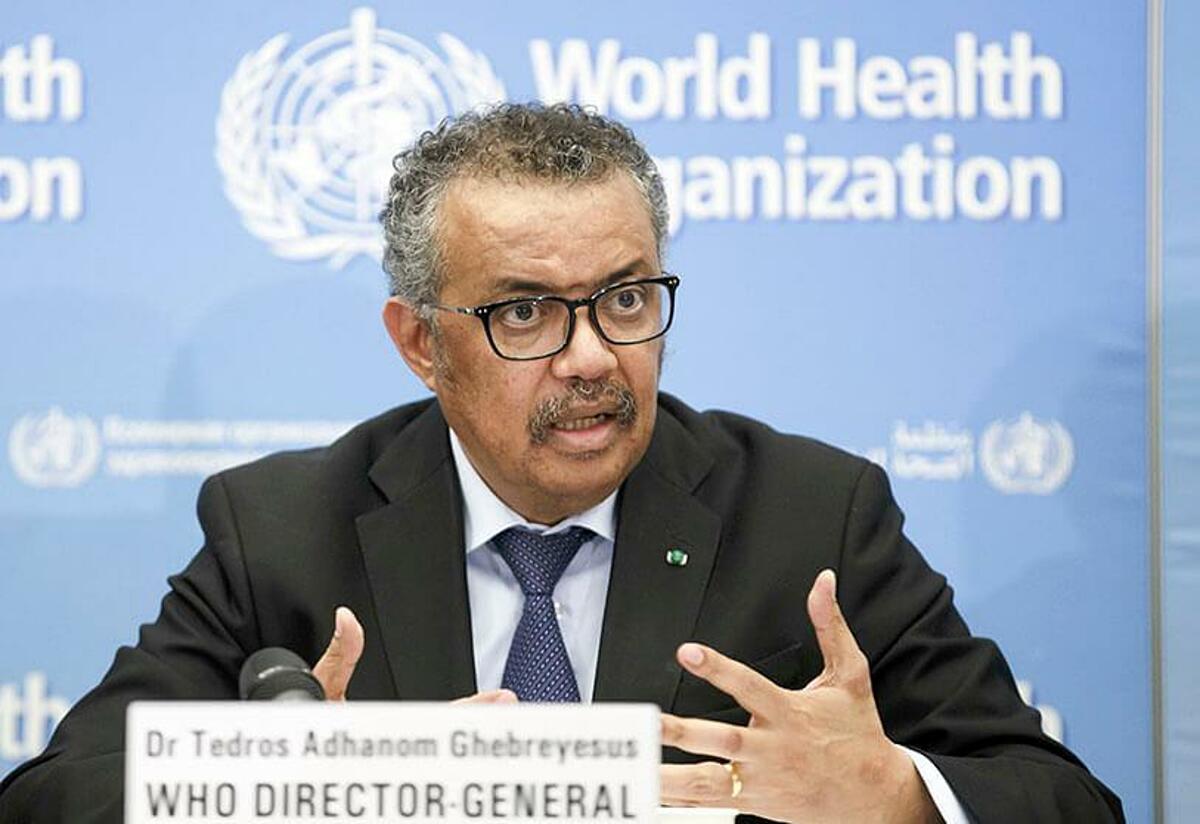 Tedros Adhanom Ghebreyesus, giám đốc WHO, trong buổi họp tại thành phố Geneva, Thụy sĩ. Ảnh: AP