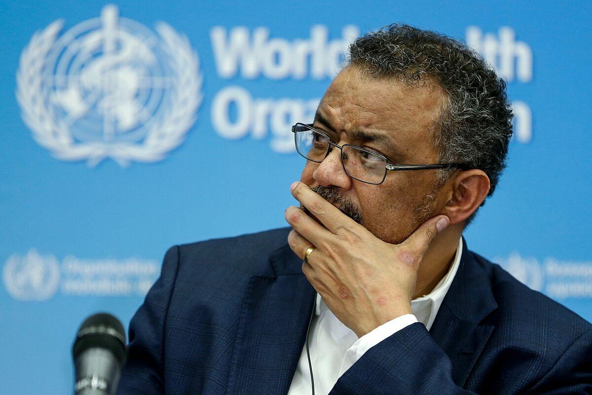 Giám đốc WHO Tedros Adhanom Ghebreyesus trong buổi họp tại Geneva, Thuỵ Sĩ, tháng 12/2020. Ảnh: AFP