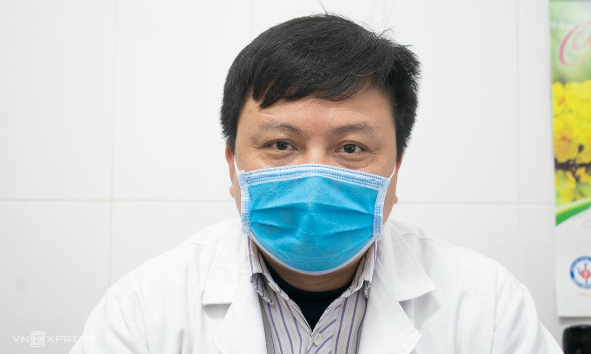 Bác sĩ Dương Minh Tâm, Trưởng phòng điều trị các rối loạn liên quan stress. Ảnh: Chi Lê.