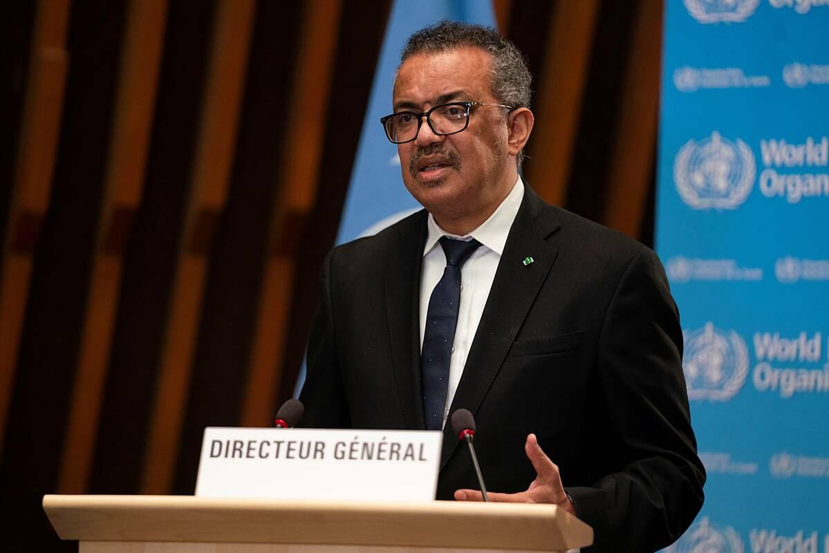 Tổng giám đốc WHO Tedros Adhanom Ghebreyesus trong buổi họp tại Geneva, Thuỵ Sĩ. Ảnh: NY Times