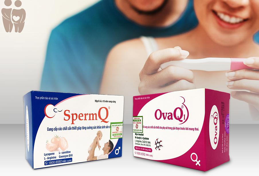 Thực phẩm bảo vệ sức khỏe OvaQ1, SpermQ.