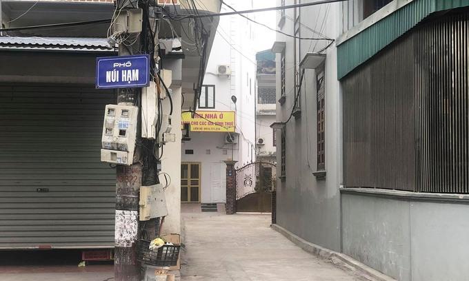 Khu vực nhà riêng của bệnh nhân 1553 tại Hạ Long, sáng 28/1. Ảnh:Nguyễn Công.