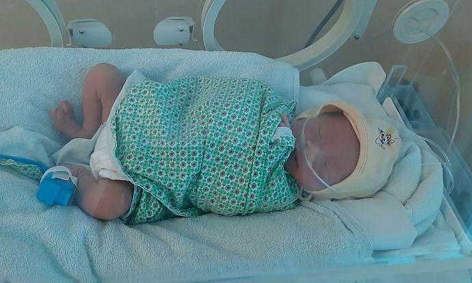 Bé An được điều trị tại Bệnh viện Đa khoa Đức Giang ngày 10/2.
