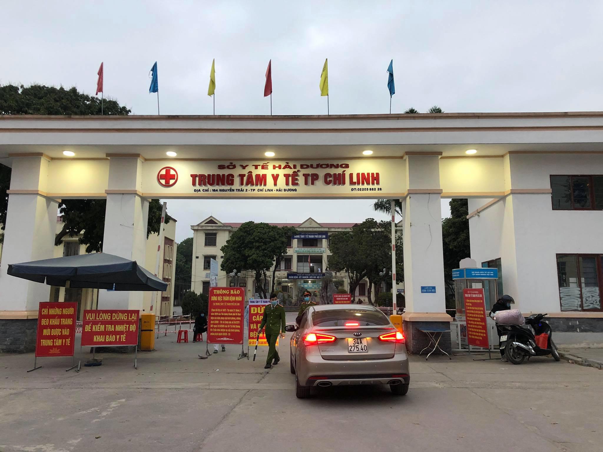 Bệnh viện dã chiến số một đặt tại Trung tâm Y tế Chí Linh, Hải Dương. Ảnh: bác sĩ cung cấp.