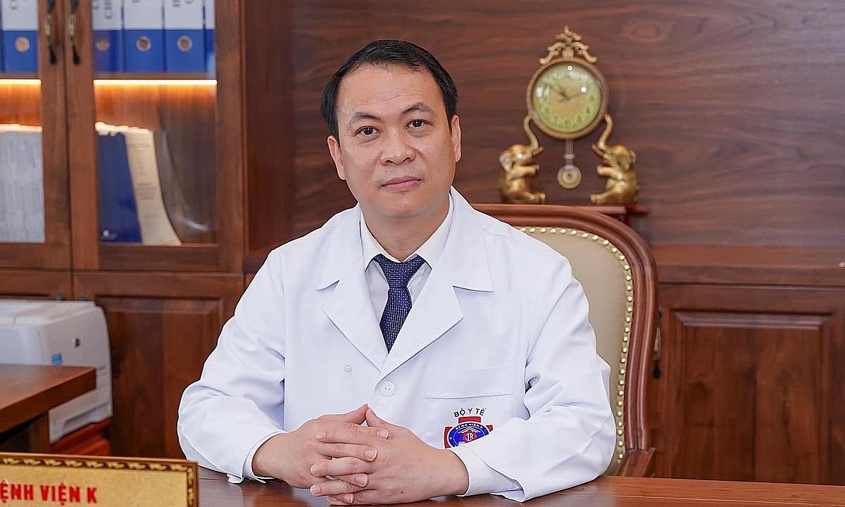 Tiến sĩ Nguyễn Tiến Quang, Chủ tịch Hội đồng quản lý Bệnh viện K. Ảnh: Thái Hà.