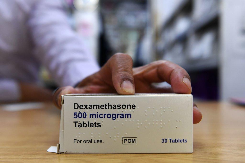 Thuốc Dexamethasone hàm lượng 500 microgram. Ảnh: EPA