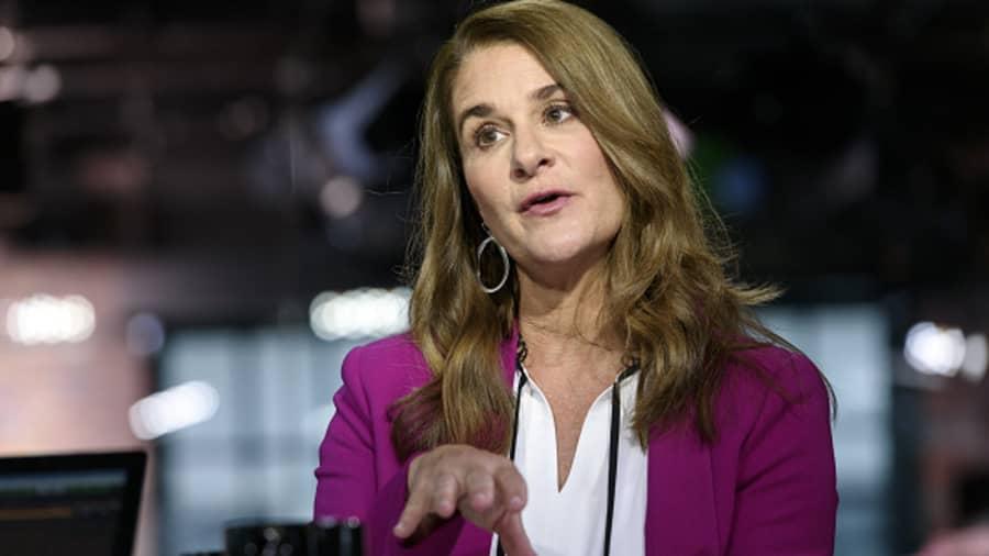 Melinda Gates phát biểu trong một cuộc phỏng vấn trên Bloomberg Technology tại San Francisco, California, năm 2019. Ảnh: Bloomberg.
