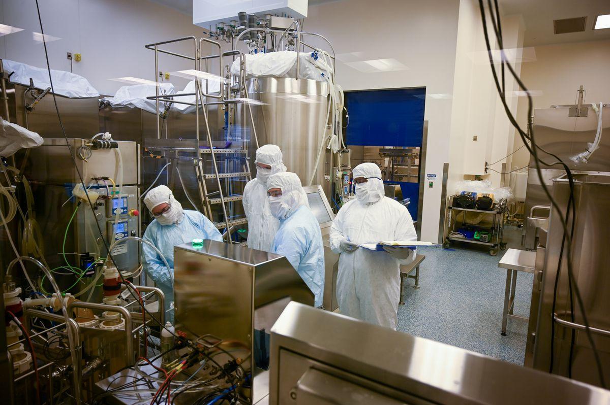 Cơ sở sản xuất vaccine Covid-19 của AstraZeneca tại Baltimore. Ảnh: Baltimore Sun