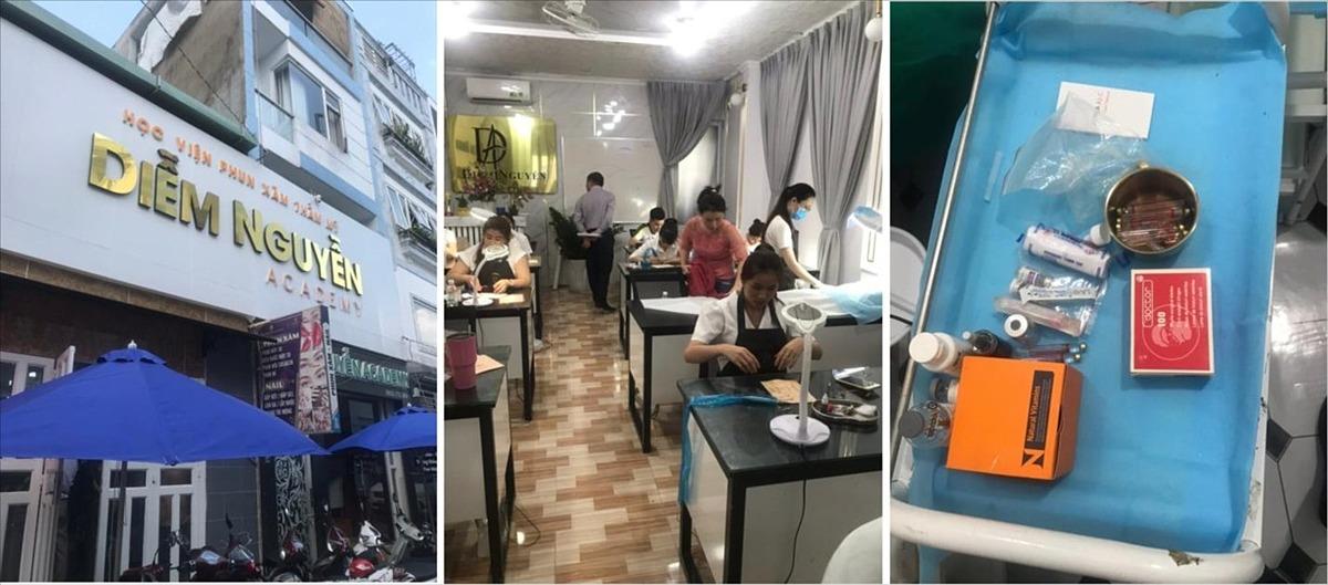 Cơ sở đào tạo phun, xăm và phẫu thuật thẩm mỹ trái phép trên địa bàn TP Thủ Đức. Ảnh do Sở Y tế TP HCM cung cấp.