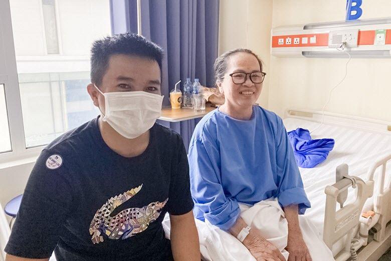 Bệnh nhân Bùi Thị Tám sau ca phẫu thuật.