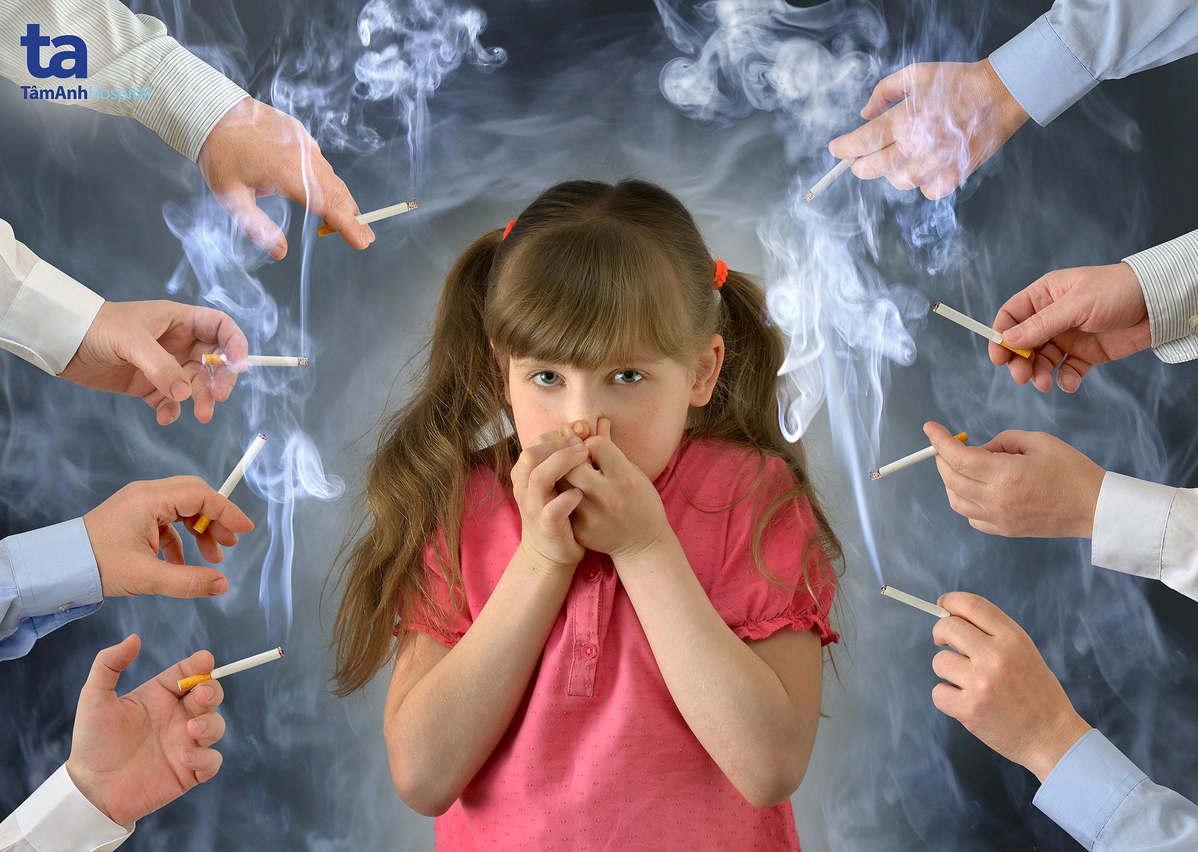 Khói thuốc lá ảnh hưởng đến sức khỏe trẻ em