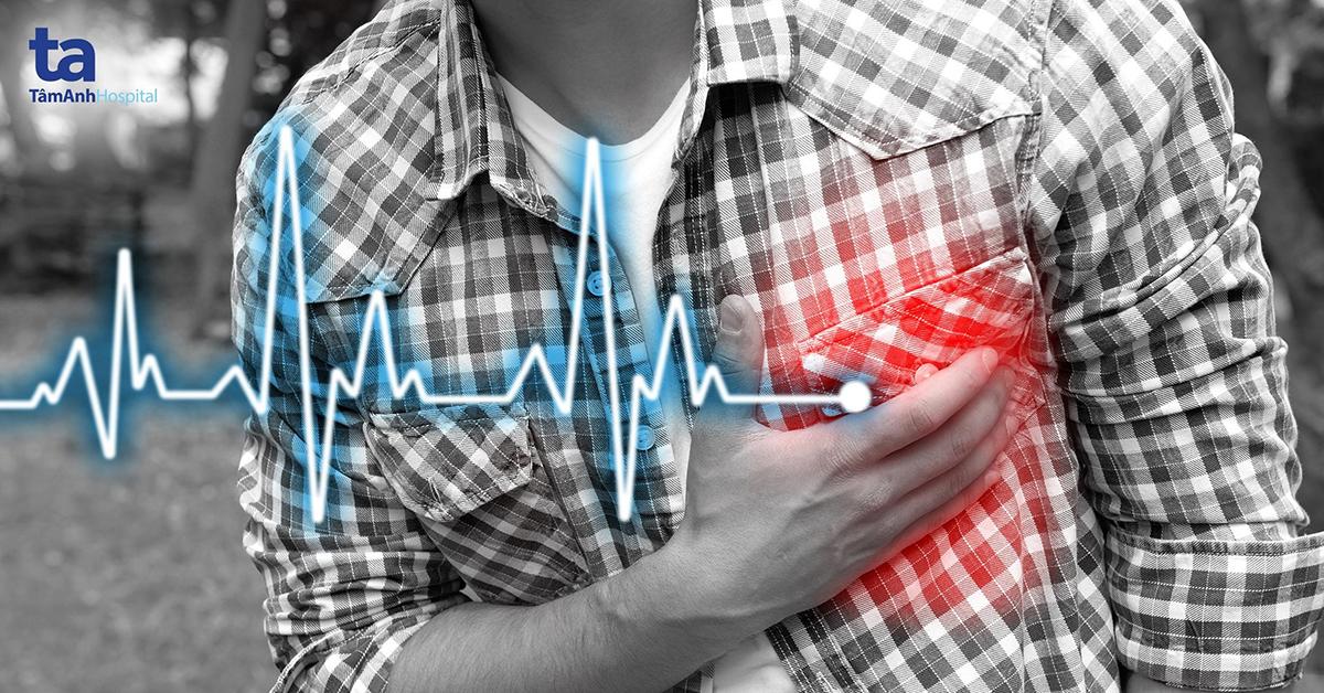 Đau thắt ngực, khó thở là biểu hiện dễ nhận thấy nhất của bệnh mạch vành.