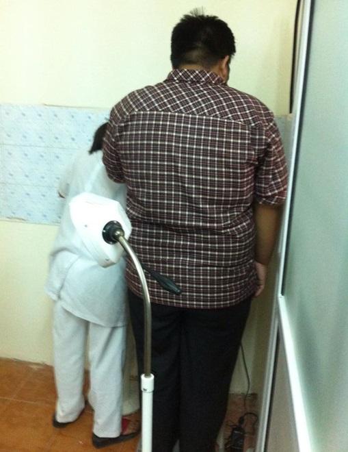 Bệnh nhân cao 1,63 mét nặng 114 kg. Ảnh: Bác sĩ cung cấp