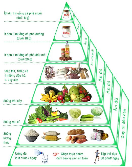 Tháp dinh dưỡng.