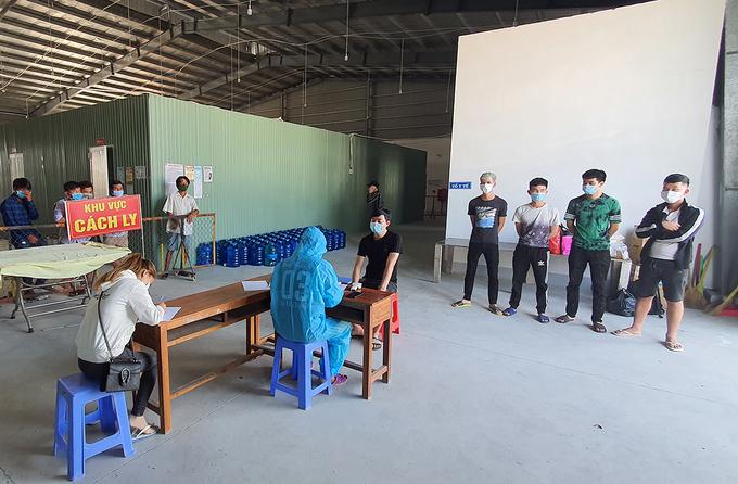 Khu cách ly tập trung tại TP Hà Tiên tiếp nhận người từ Campuchia về. Ảnh:Nguyễn Phương.