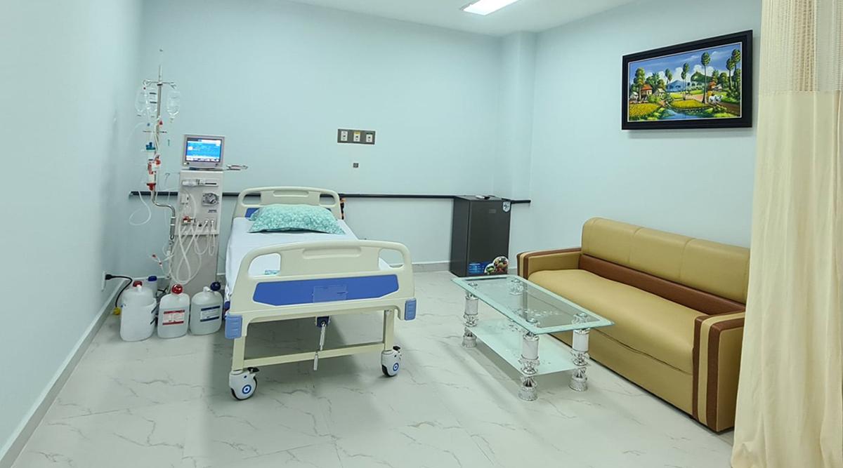 Một khu phòng điều trị bệnh nhân tại Bệnh viện Chợ Rẫy Phnom Penh. Ảnh do bệnh viện cung cấp.