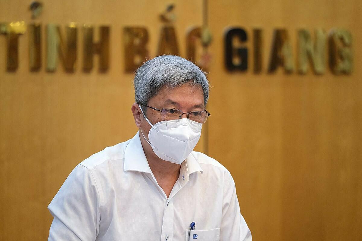 Thứ trưởng Y tế Nguyễn Trường Sơn. Ảnh: Phạm Thắng.