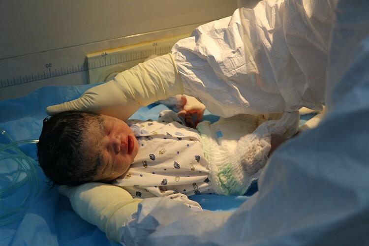 Em bé chào đời tại bệnh viện. Ảnh: Bệnh viện cung cấp