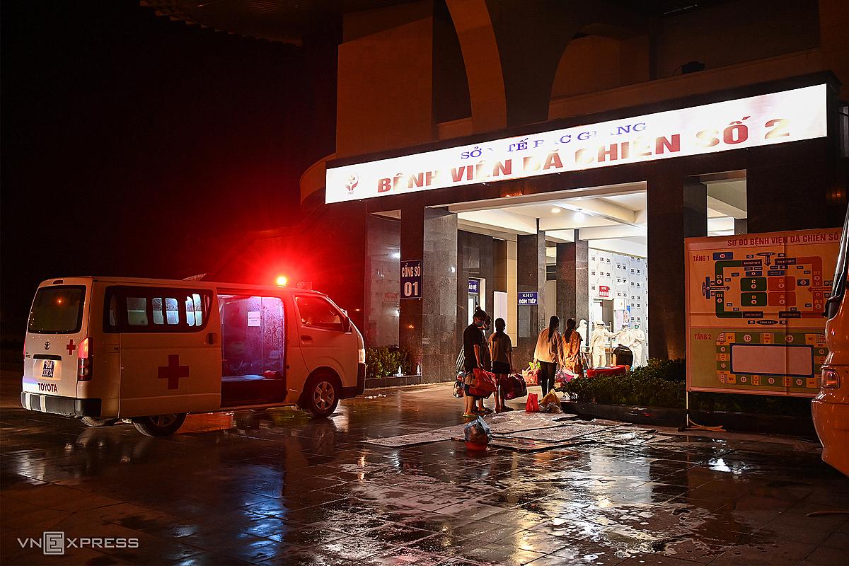 Bệnh viện dã chiến số 2 tại nhà thi đấu tiếp nhận bệnh nhân từ 28/5. Ảnh: Giang Huy