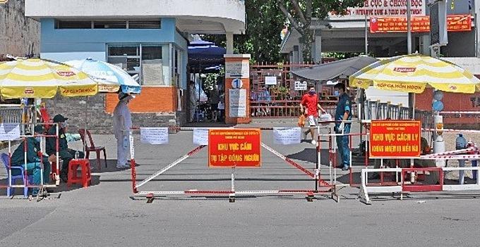 Bệnh viện Quận Tân Phú bị phong toả. Ảnh: Trung tâm Kiểm soát Bệnh tật TP HCM.