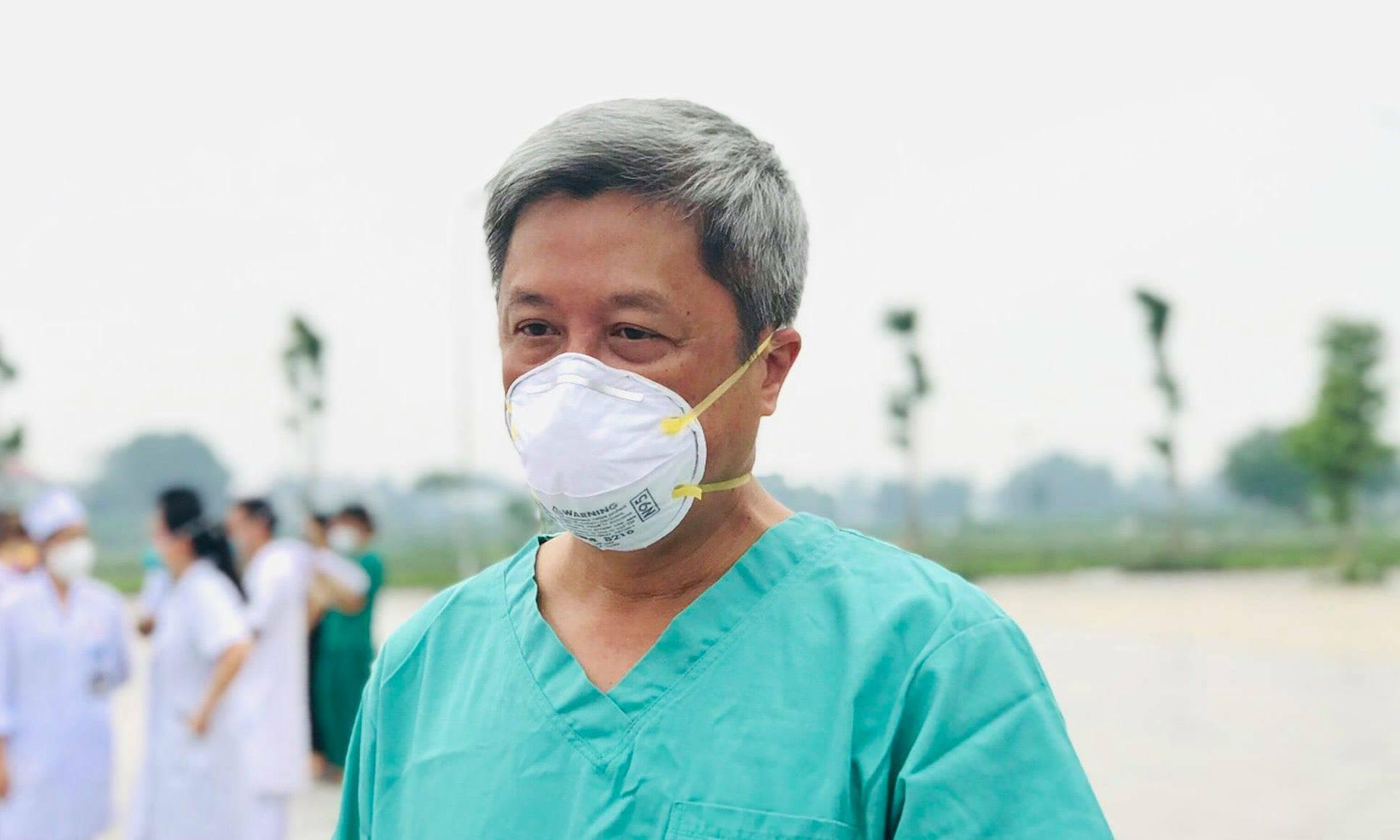 Thứ trưởng Y tế Nguyễn Trường Sơn, Trưởng của Bộ phận thường trực đặc biệt của Bộ Y tế chi viện Bắc Giang. Ảnh: Ngọc Mai.
