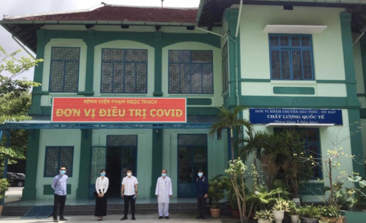 Một nửa Bệnh viện Phạm Ngọc Thạch đã sẵn sàng tiếp nhận bệnh nhân Covid-19, từ ngày 10/6. Ảnh: Sở Y tế TP HCM.