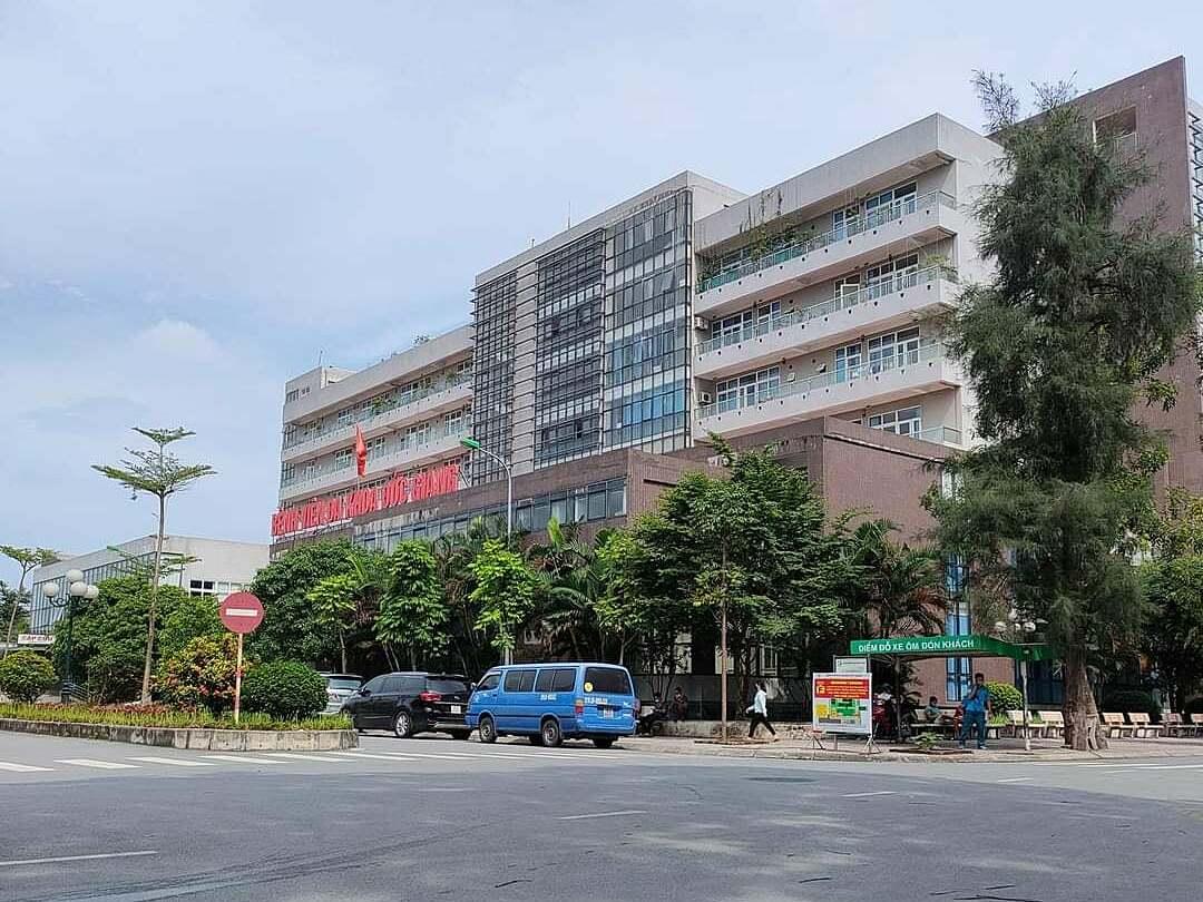Bệnh viện Đa khoa Đức Giang hoạt động trở lại từ 0h ngày 20/6. Ảnh: Thuý Ninh.