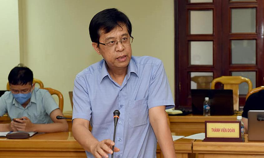 Giáo sư Đặng Đức Anh, Viện trưởng Viện Vệ sinh dịch tễ Trung ương, thông tin về kết quả giải trình tự gen tại Hà Tĩnh, ngày 19/6. Ảnh: Từ Thành.