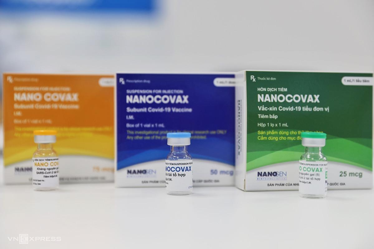 Vaccine Nanocovax tại nhà máy sản xuất của Công ty Nanogen ở quận 9, TP HCM, sáng 23/6. Ảnh: Quỳnh Trần.