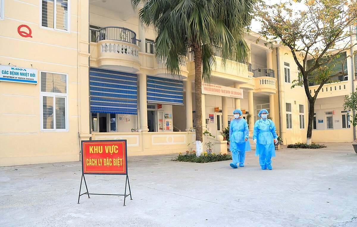 Khu vực cách ly đặc biệt tại Bệnh viện đa khoa Hà Đông. Ảnh: Bệnh viện cung cấp