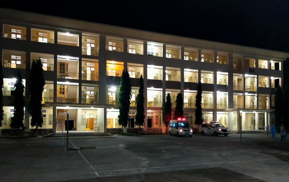 Bệnh viện dã chiến thu dung điều trị Covid-19 số 1 hoạt động từ đêm 26/6. Ảnh: Sở Y tế TP HCM.