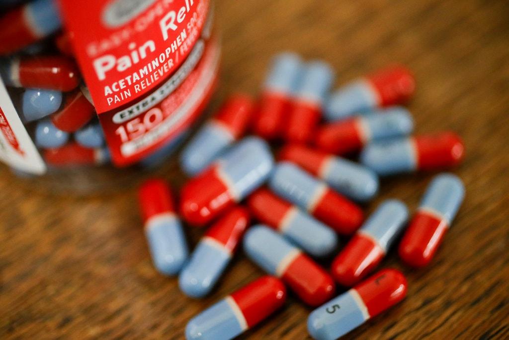 Thuốc giảm đau acetaminophen tại Mỹ. Ảnh: AP