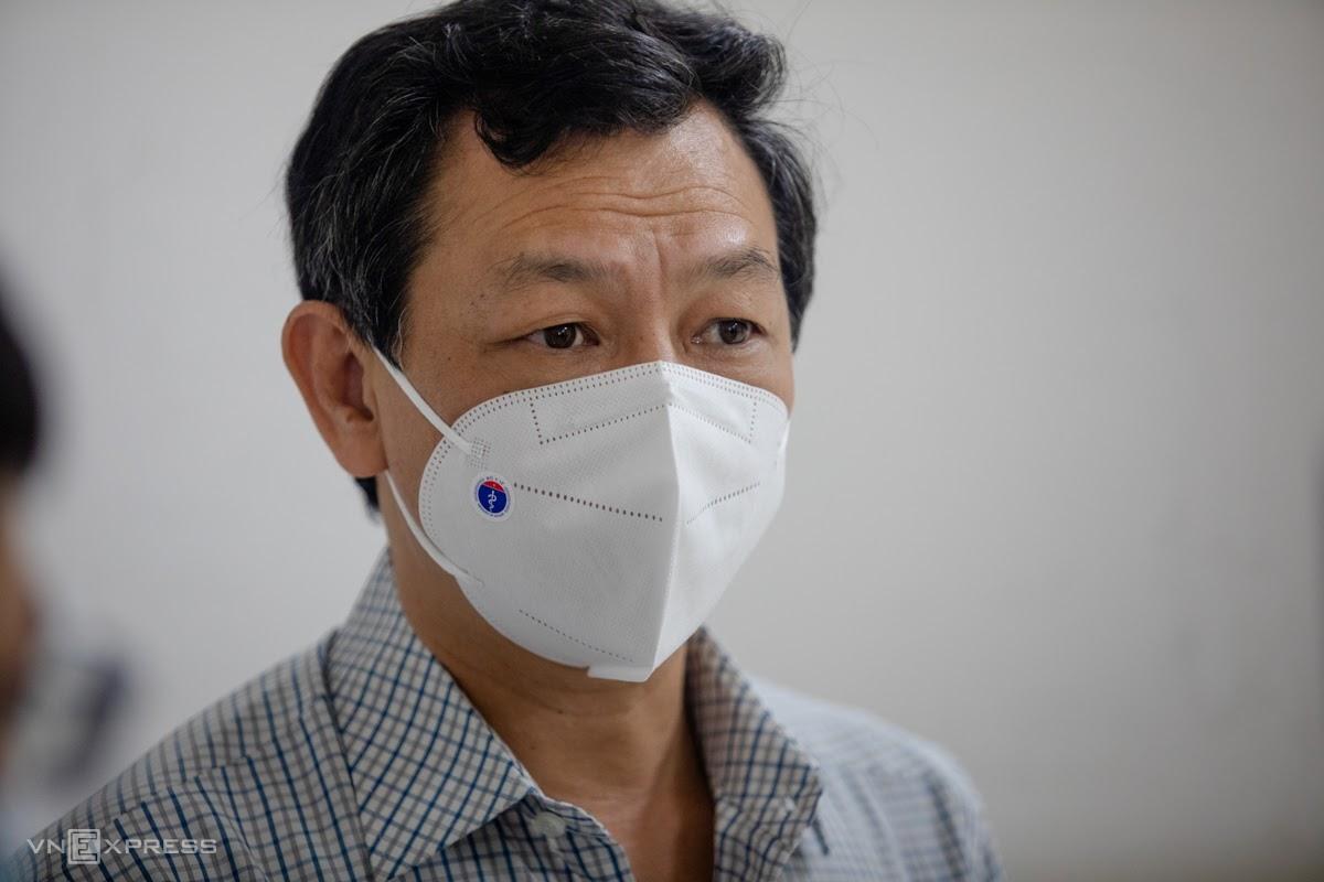 Bác sĩ Nguyễn Tri Thức, Giám đốc Bệnh viện Chợ Rẫy kiêm Giám đốc Bệnh viện Hồi sức Covid-19. Ảnh: Thành Nguyễn.