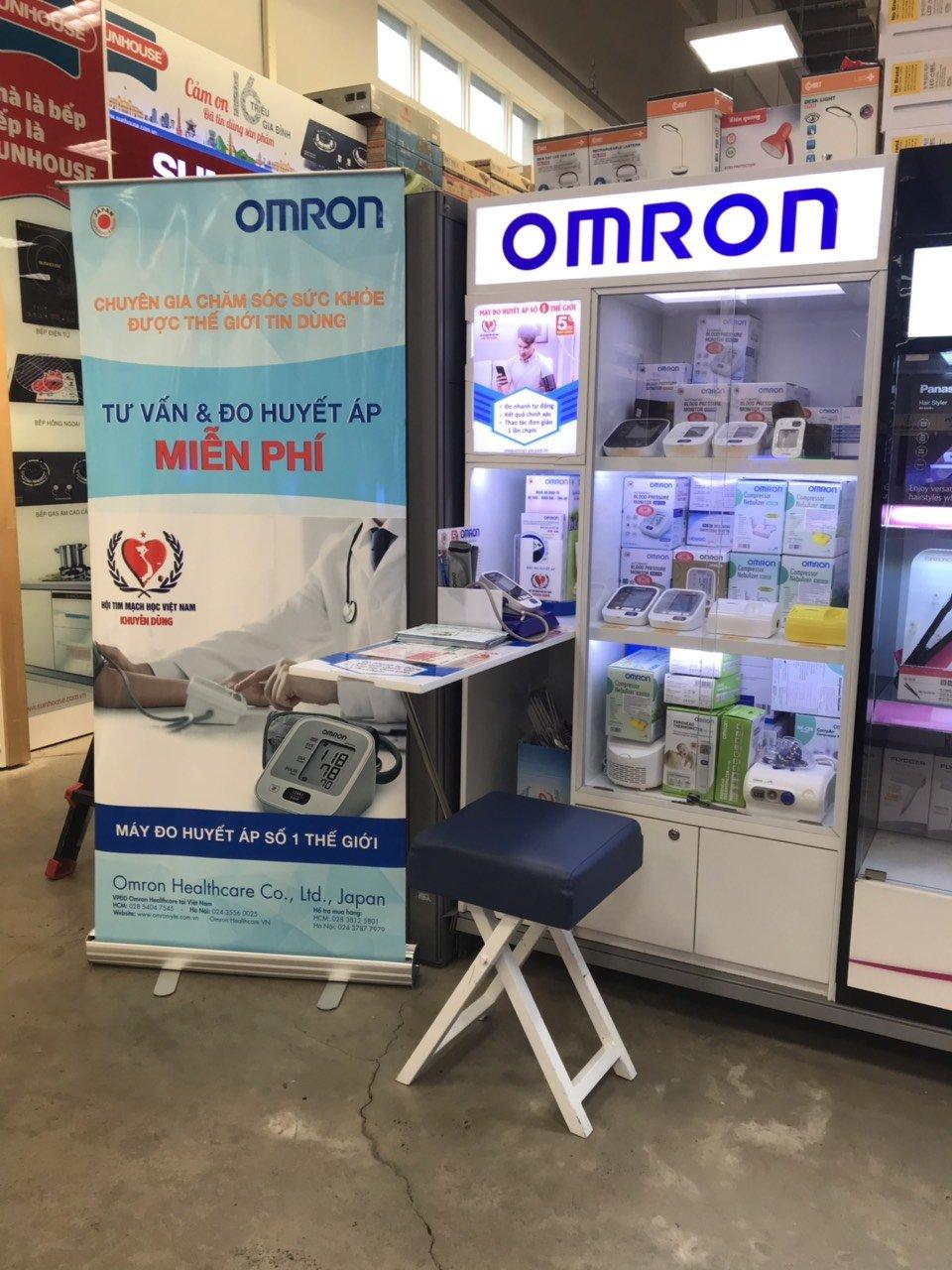 Một điểm bán hàng của Omron tại TP HCM.