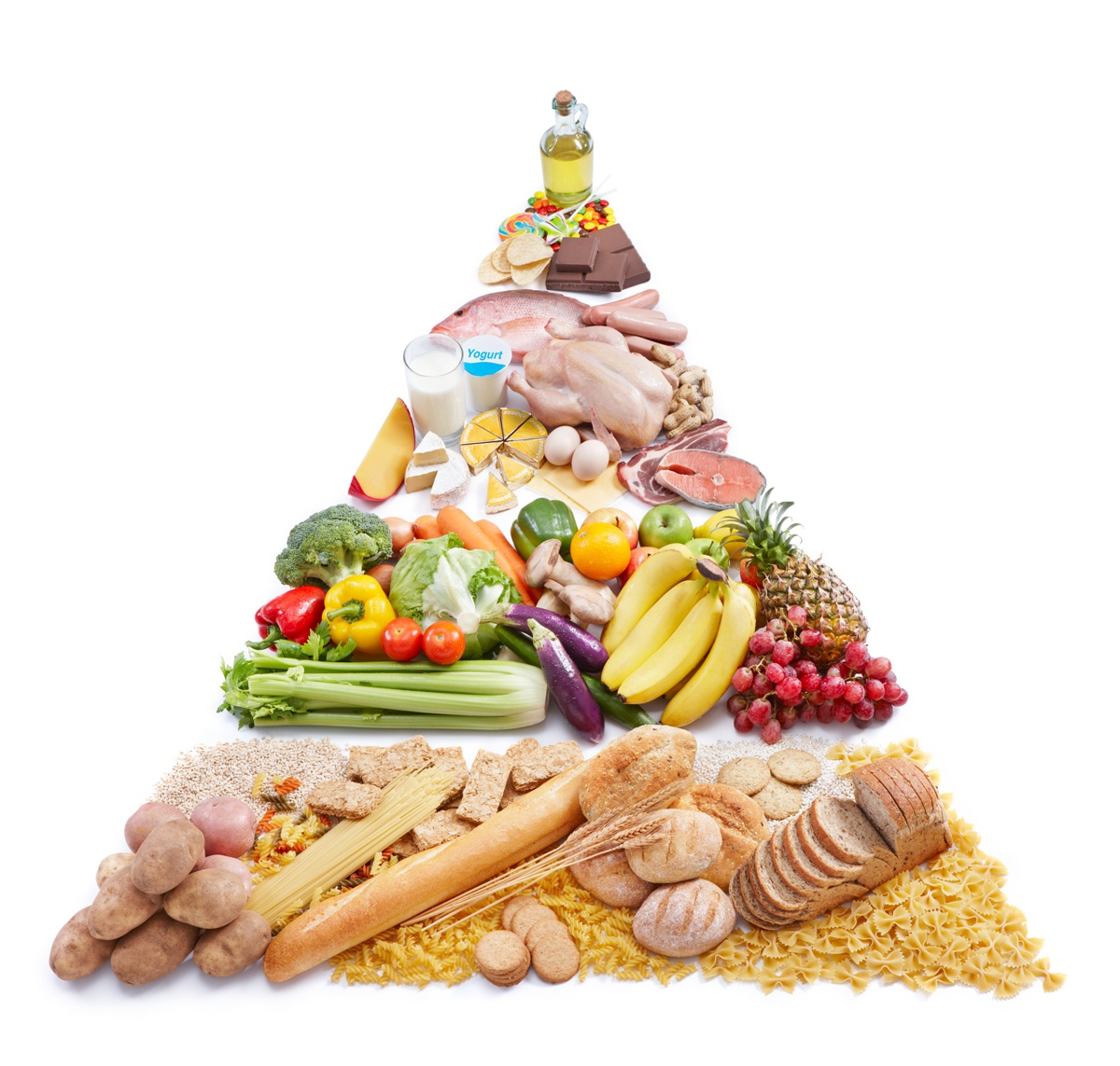 Chế độ dinh dưỡng khoa học bao gồm 4 nhóm chính. Ảnh: Shutter Stock.
