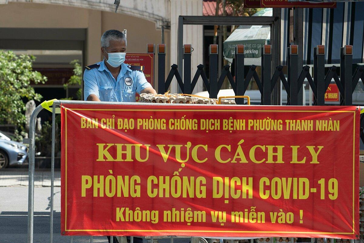 Khu vực cách ly y tế tại Bệnh viện Phổi Hà Nội, ngày 27/7. Ảnh: Minh Nhân.