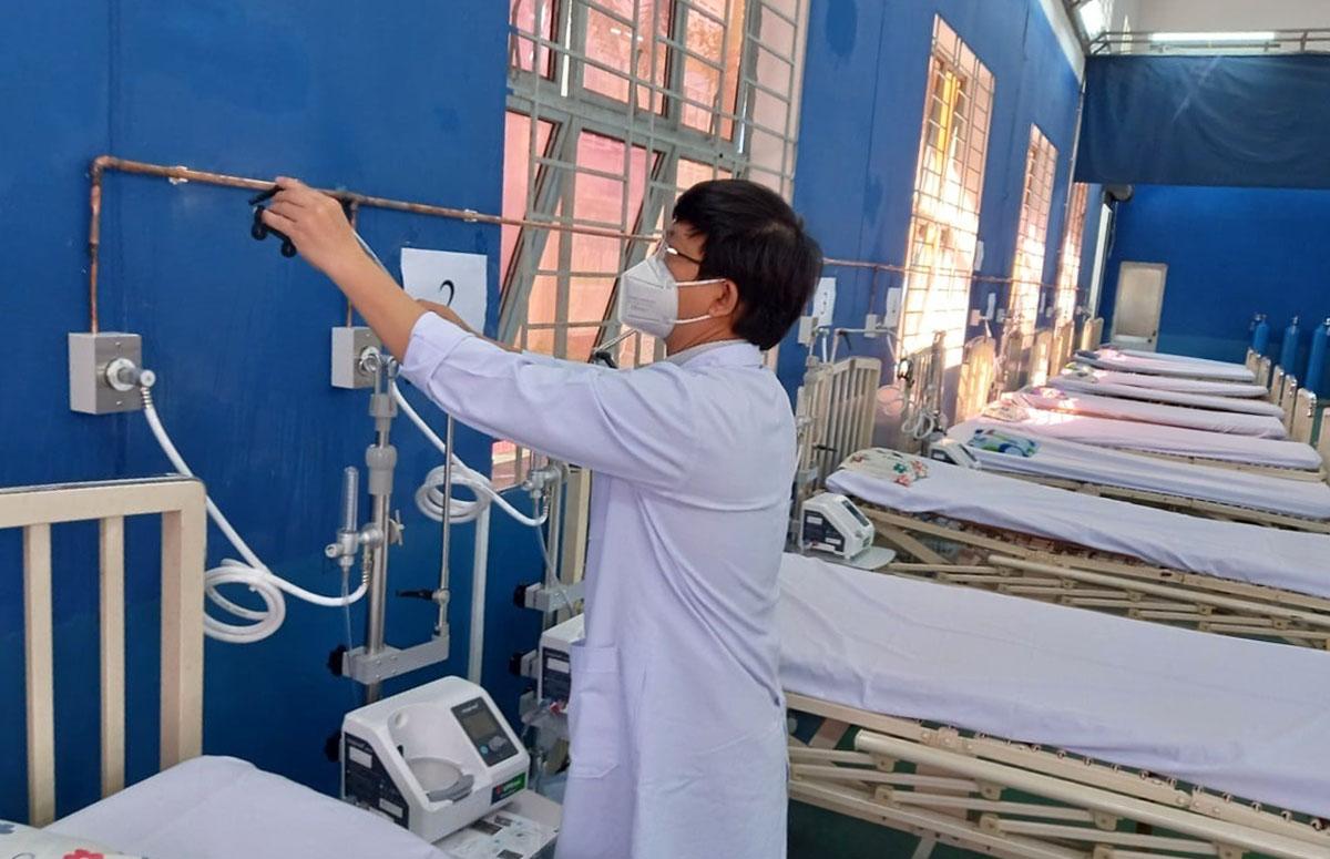 Bệnh viện dã chiến điều trị Covid-19 Phú Nhuận số 1 hoạt động từ ngày 12/8. Ảnh: Hà Văn Đạo.