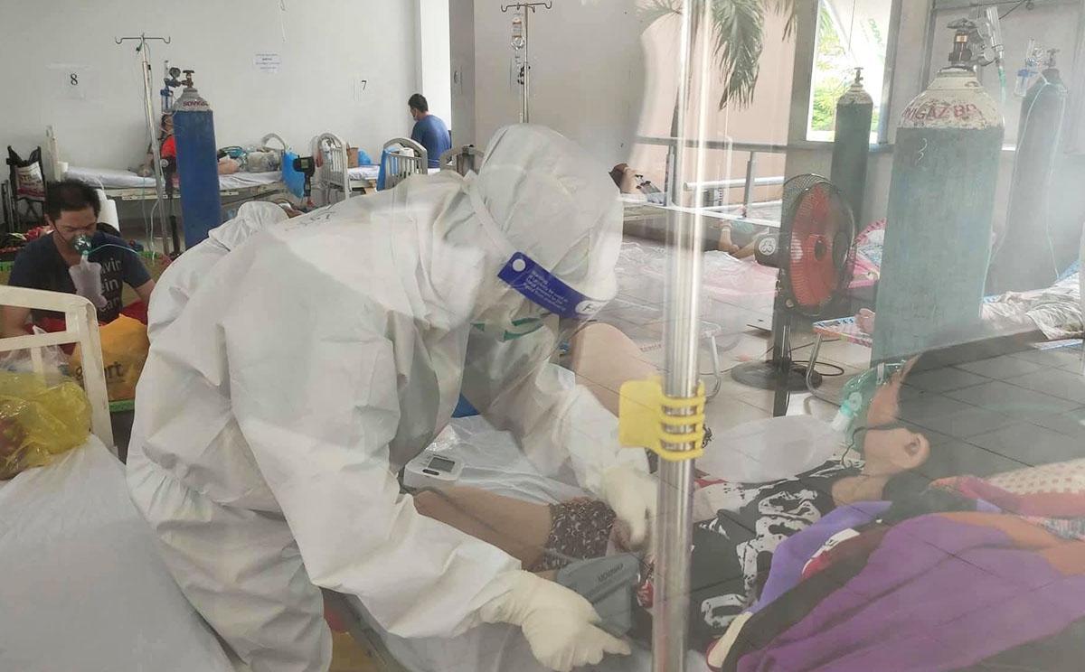 Phòng thở oxy Bệnh viện dã chiến số 3. Ảnh: Hà Văn Đạo.