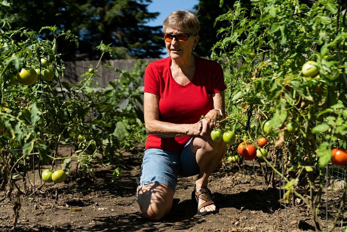 Lynn Hensley tại nhà riêng ở Neenah, Wisconsin. Ảnh: NY Times