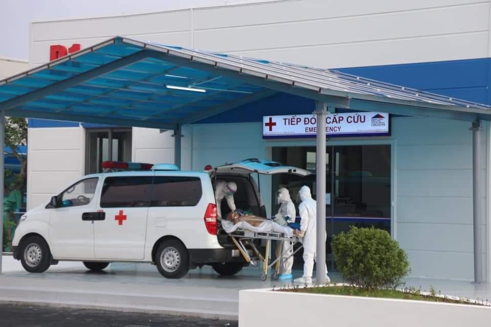 Bệnh viện điều trị bệnh nhân Covid-19 tiếp nhận bệnh nhân từ chiều 15/9. Ảnh: Bệnh viện cung cấp