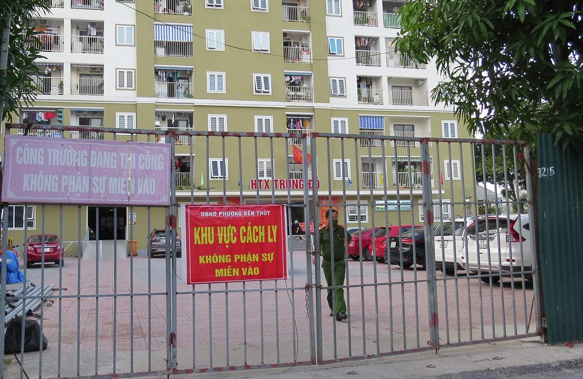 Chung cư HTX Trung Đô (phường Bến Thủy) đươc phong tỏa từ chiều 16/9.