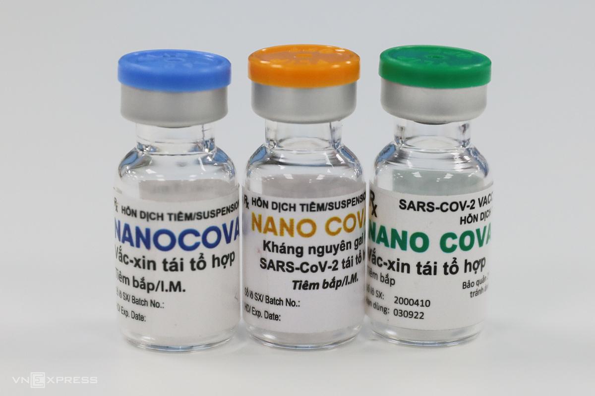Vaccine Covid-19 Nanocovax do công ty Nanogen nghiên cứu và sản xuất. Ảnh: Quỳnh Trần