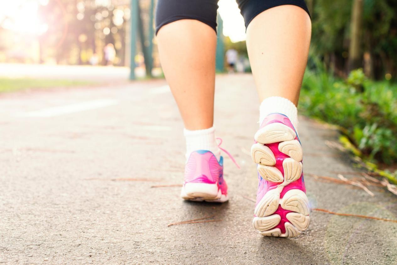15.000 bước đi bộ tương đương quãng đường 12km. Ảnh