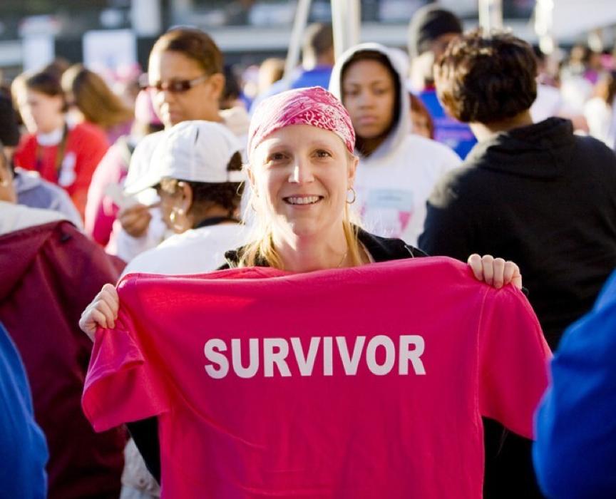 Fran Boyd chinh phục 6 giải chạy lớn nhất hành tinh dù mắc ung thư vú. Ảnh: American Cancer Society.